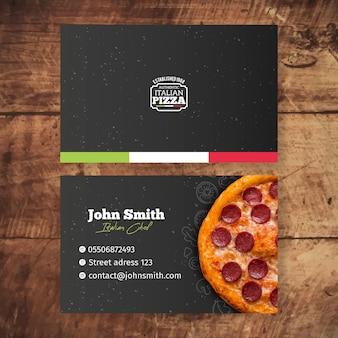 Modello di biglietto da visita di cibo italiano