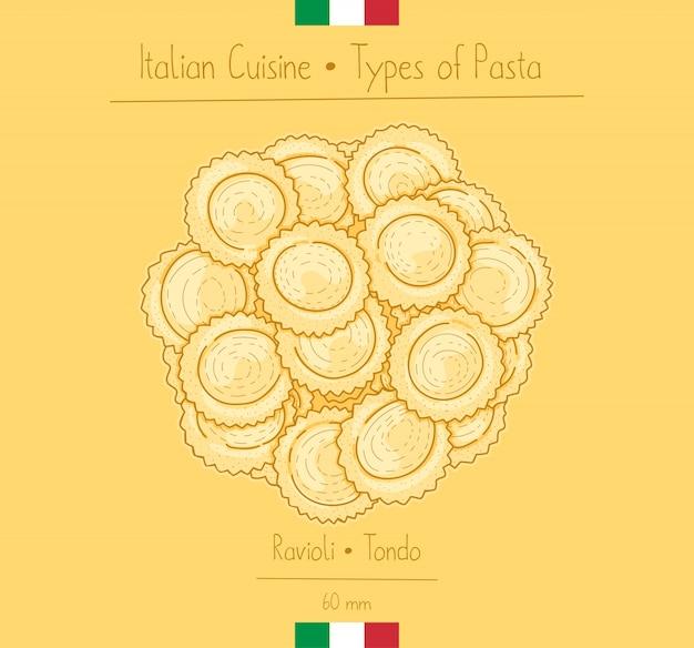 Pasta circolare alimentare italiana alias ravioli rotondi