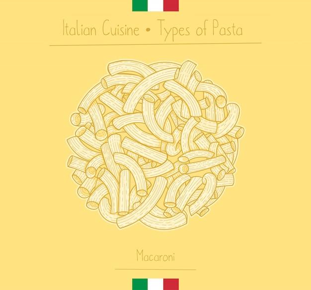 Pasta italiana a forma di gomito aka maccheroni