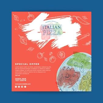 Piazza volantino cibo italiano