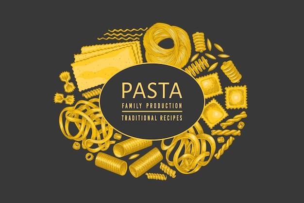 Design italiano di pasta