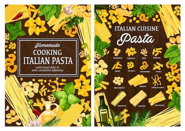 Ristorante di pasta italiano, ricetta di cucina fatta in casa