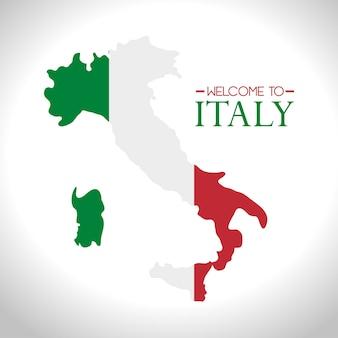 Icona isolata di bandiera italia