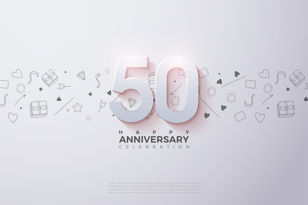Il suo 50 ° anniversario con una figura tridimensionale leggermente sbiadita