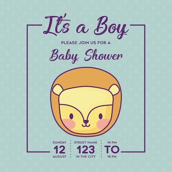 È un ragazzo invito baby shower