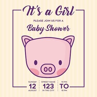 È una ragazza baby shower invitation
