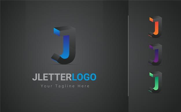 Lettera j logo 3d
