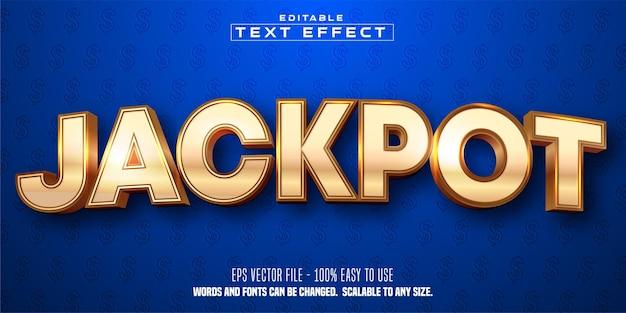 Effetto di testo modificabile in stile dorato jackpot