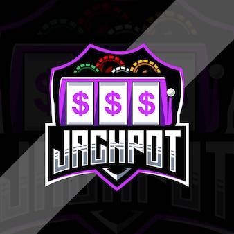 Modello di logo di jackpot