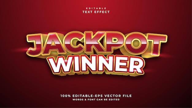 Effetto di testo modificabile in stile premio jackpot
