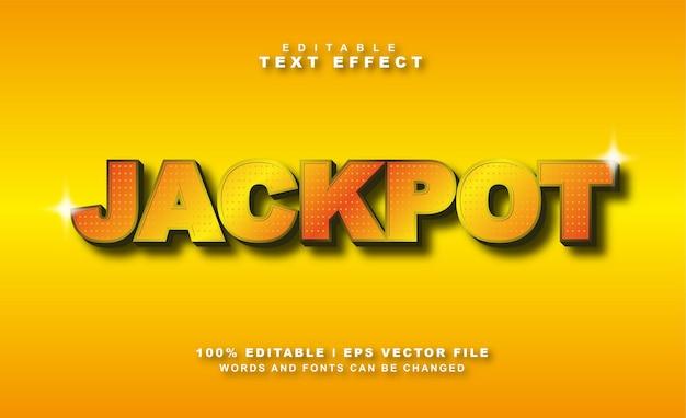 Vettore di effetto di testo jackpot gratis eps
