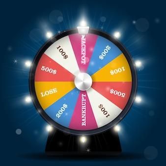 Jackpot sulla ruota della fortuna - vincita alla lotteria