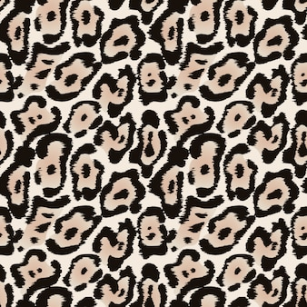 Jaguar seamless pattern o leopard fur texture