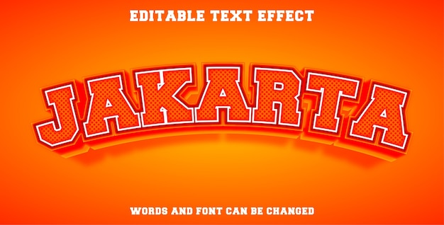 Jakarta effetto di testo modificabile