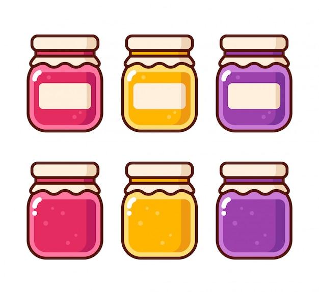 Set di barattoli di marmellata