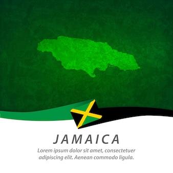 Bandiera della giamaica con mappa centrale
