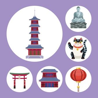 Giappone sei icone