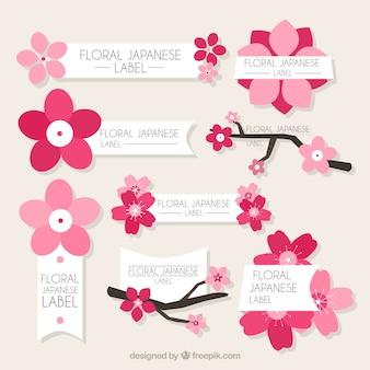 Adesivi floreali giapponesi