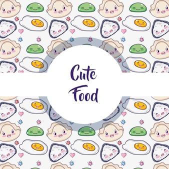 Modello di sfondo cibo giapponese
