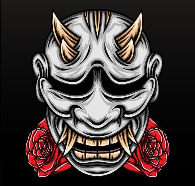 Maschera hannya giapponese.