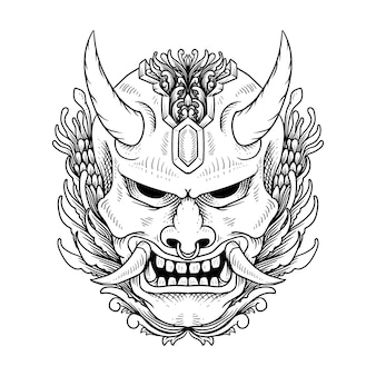 Maschera giapponese hannya oni