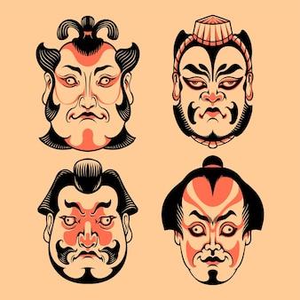Testa kabuki giapponese