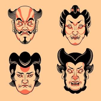 Maschera kabuki giapponese