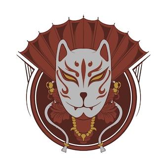 Maschera kitsune giapponese