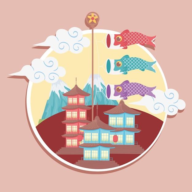 Bandiera di pesce koi giapponese