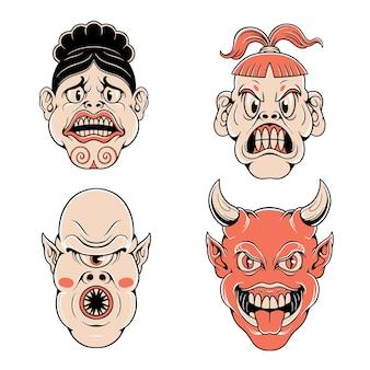 Maschera giapponese