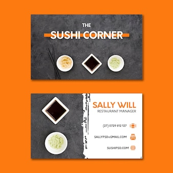 Biglietto da visita del ristorante giapponese