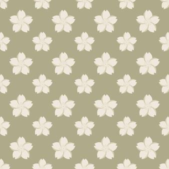 Stile giapponese retrò vintage seamless pattern sakura fiori di ciliegio