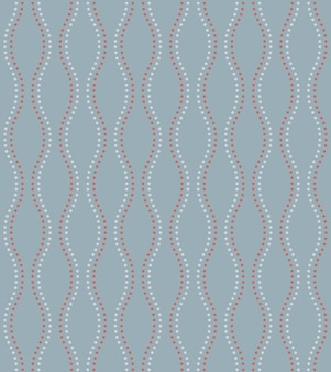 Stile giapponese retrò vintage seamless pattern wave dot line