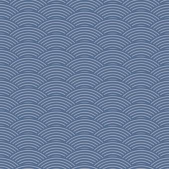 Linea d'onda senza cuciture vintage retrò stile giapponese