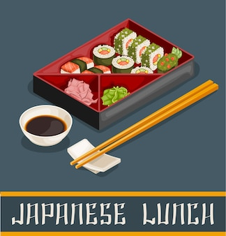 Sushi giapponese set concept