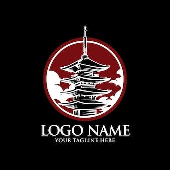 Modello di logo della torre giapponese