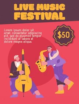 Jazz band che suona musica al festival, concerto o si esibisce sul palco.