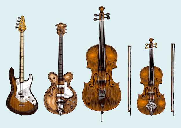 Set di strumenti a fiato classici jazz