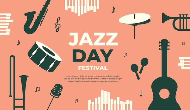 Illustrazione vettoriale di banner festival jazz day per la promozione di eventi poster