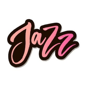 Jazz festival testo lettering calligrafia oro nero