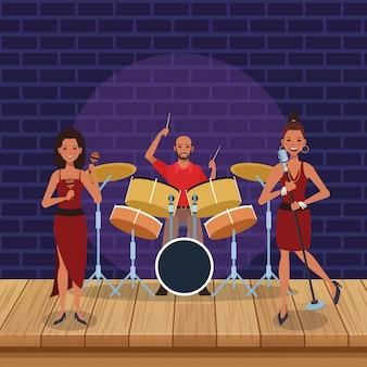 Spettacolo di band di musica jazz
