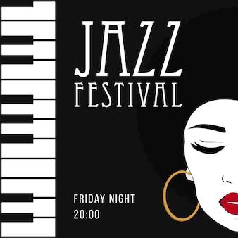 Musica jazz, modello di sfondo poster.