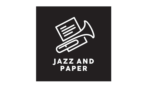 Design del logo jazz music sheet