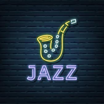 Insegna al neon jazz
