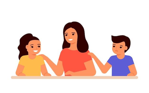 Relazione gelosa fratelli in conflitto familiare bambini e invidia per madre disuguaglianza bambini