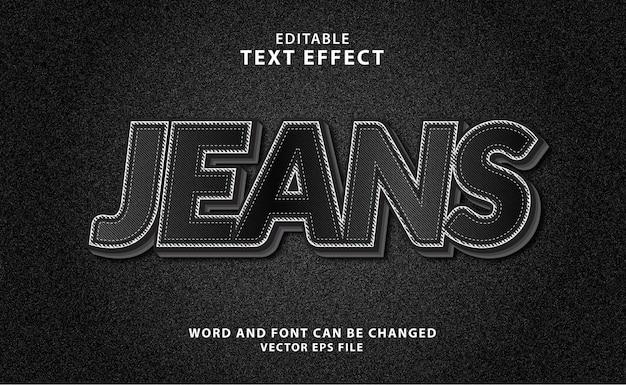 Effetto di testo eps modificabile 3d jeans