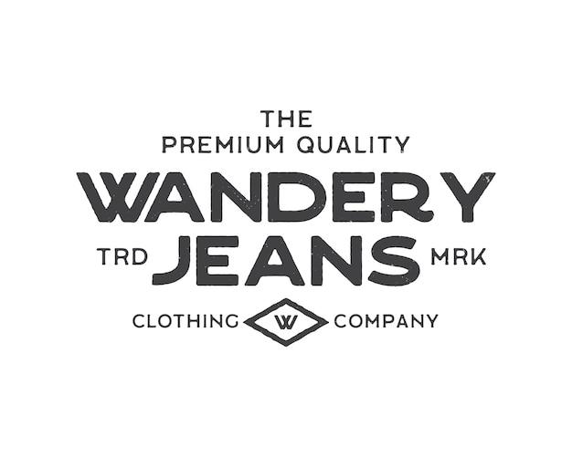 Modello di logo dell'azienda di abbigliamento jeans