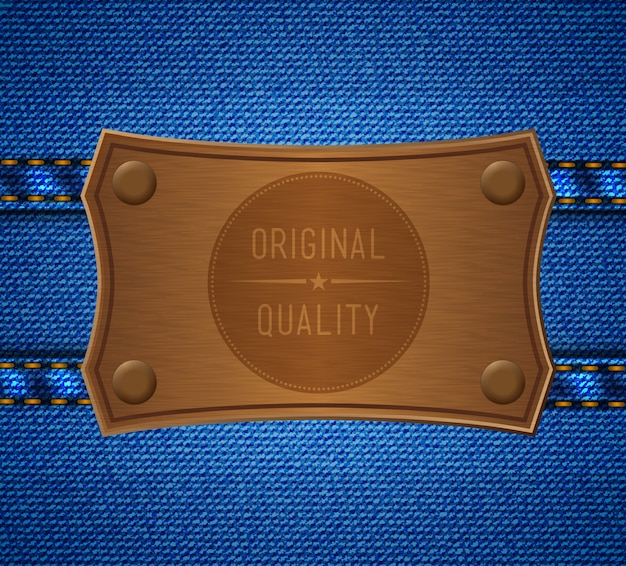 Etichetta jeans. qualità originale