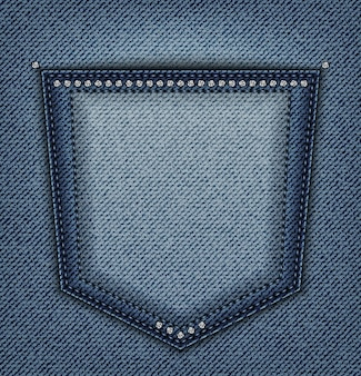 Tasca jeans con lustrini