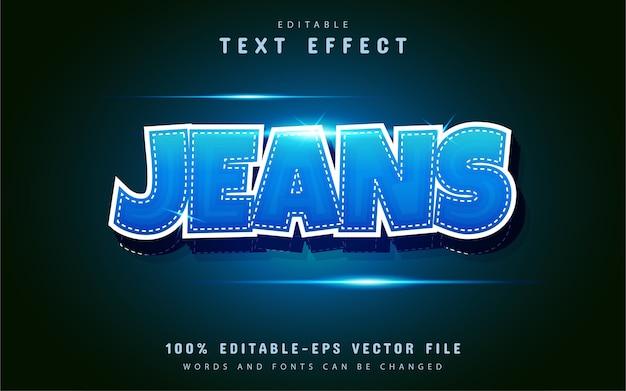Effetto testo jeans